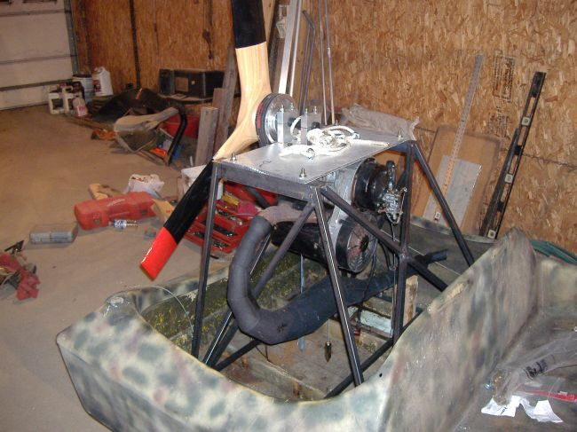 503 rotax engine stand, motor upside down - Southern Airboat