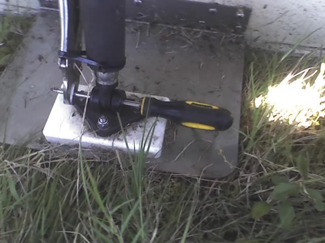 lenco trim tab field repair ! southern airboatlenco trim tab field repair !