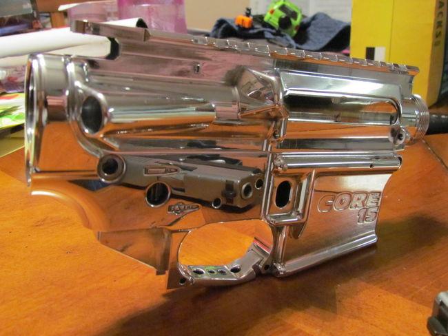 Polishing aluminum upper and lower - AR15 COM