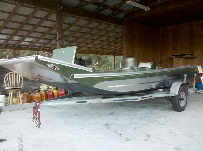 Brother- in- laws New DIAMONDBACK hull - Southern Airboat