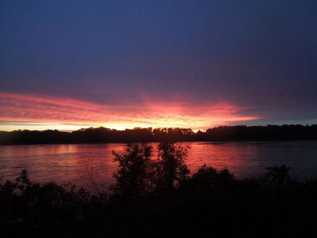 Nebraska Sunset on the Platte River