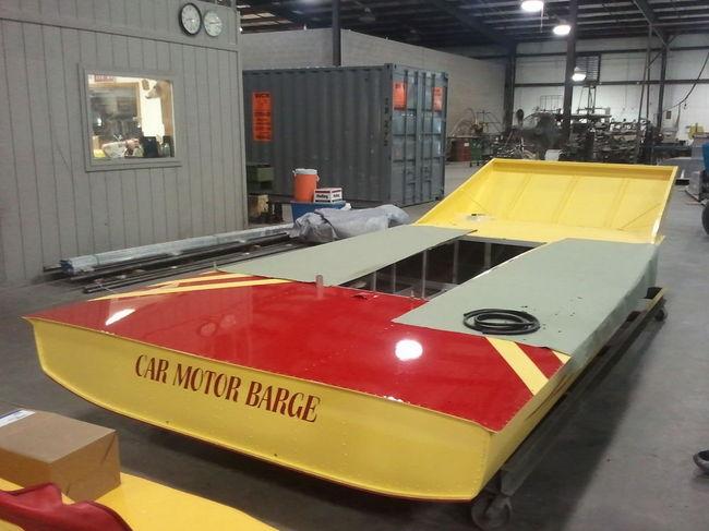 Car motor barge build southern airboat for Mcd motors mobile al