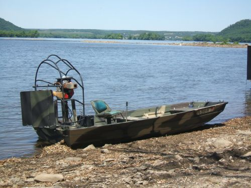 home made jon boat conversion mini airboat Millersburg pa