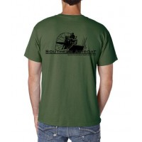 "Southern Airboat No Pocket ""T"" (Military Green)"