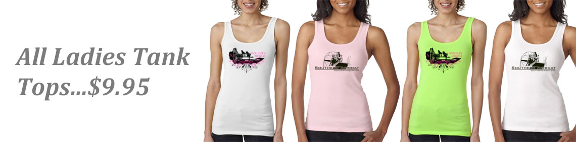 Southern Airboat Ladies Tank Tops
