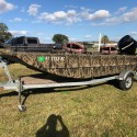 2011 16ft All Welded Lowes Roughneck Jon Boat Mossy Oak Camo Edition w 50hp