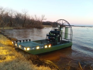 14' 100hp mini bowfishing rig