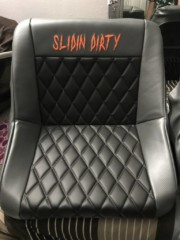"""BIG SHOUT OUT TO """"ALL KINE APOLSTERY"""" for my sick new seats !!!!!"""